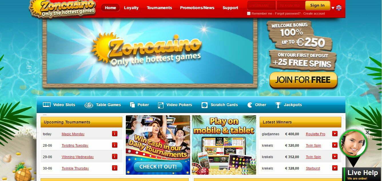 Zon Casino 1