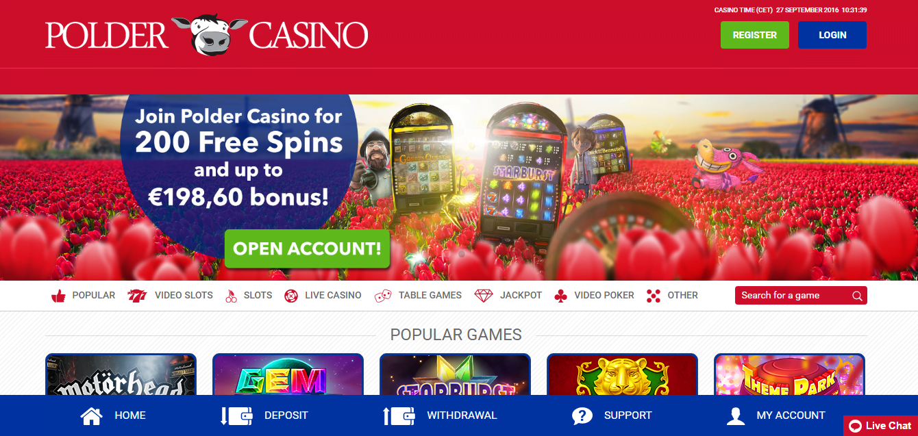 polder casino header